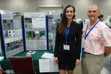 Lily Jenkins and Brent Sipes at the 2014 Science Fair
