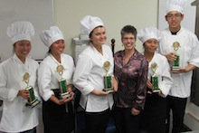 Buy Local, It Matters student chefs with Dean Gallo