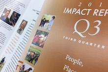 Image of cover of third-quarter 2017 Impact Report
