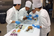 KCC culinary students preparing for a competition