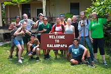 Hort Society students at Kalaupapa
