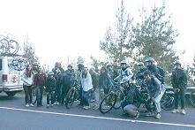 CTAHR bikers on Haleakala