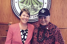Mayor Arakawa and Cindy Reeves