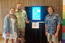 NREM students with digital poster on anaerobic digestion