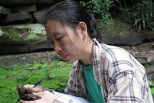 Vietnamese researcher studying biodiversity