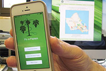 Smartphone with horticultural app