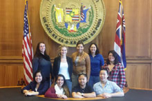 Beef Industry students at the capitol