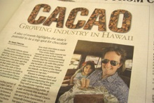 Image of article on cacao in Star-Advertiser