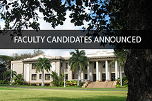 Faculty Candidates Announced