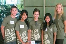 CTAHR T-shirts modeled by CTAHR student workers
