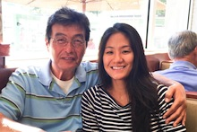 Diana Kim and her father
