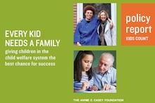 Image from cover of Every Kid Needs a Family report