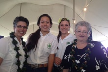 Maria Gallo and MRC Greenwood with 4-H participants