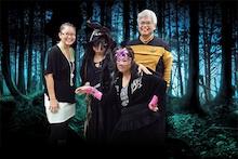 CTAHR admin staff in Halloween costumes