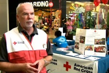 Jim Hollyer in Red Cross uniform