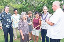 Members of the hydroponics project at the Grand Hyatt Kauai