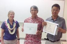 Halina Zaleski, HNFAS Department Chair; Yong soo Kim, Researcher, and Jinzeng Yang, Associate Professor.