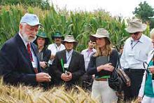 Thomas Lumpkin with wheat and corn