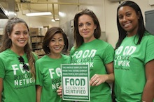 Dietetics students with Food Recovery group