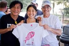 Benny Ron and gyotaku artists