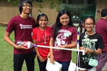 4-H students with their rocket