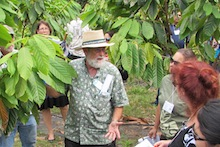 Skip Bittenbender with cacao tree