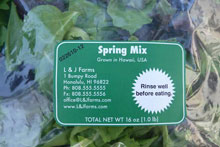 Bag of spring mix greens
