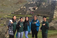 CTAHR students at Machu Picchu