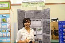 Summer Mundon giving poster presentation
