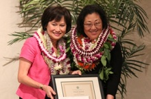 Sylvia Yuen and Ruth Niino-Duponte at 2012 CTAHR Awards Banquet