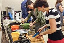 Ania Wieczorek making waffles