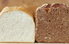 White and whole wheat bread